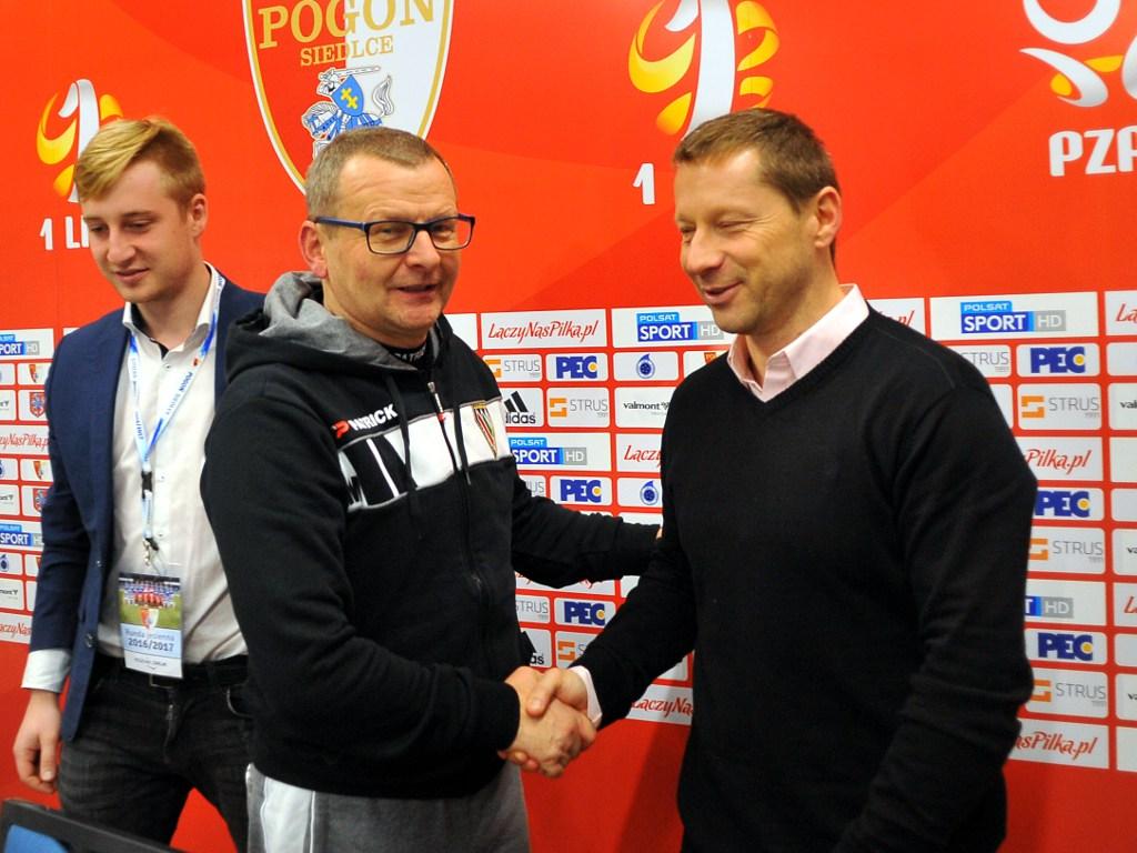 Dariusz Banasik (z prawe) i Piotr Mandrysz – fot. Maciej Wasik/zaglebie.eu