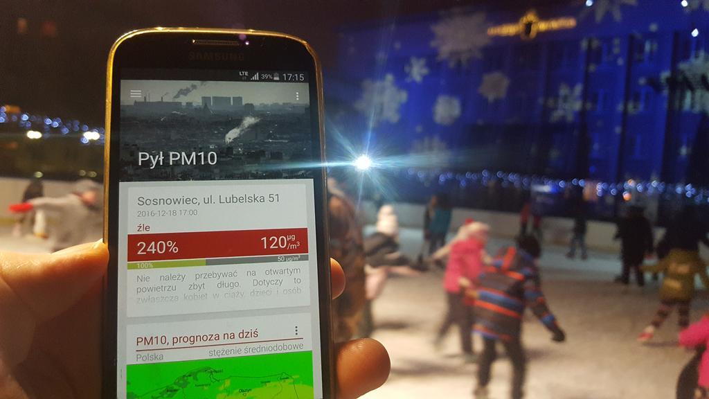 Smog w Sosnowcu – fot. Zagłębiowski Alarm Smogowy