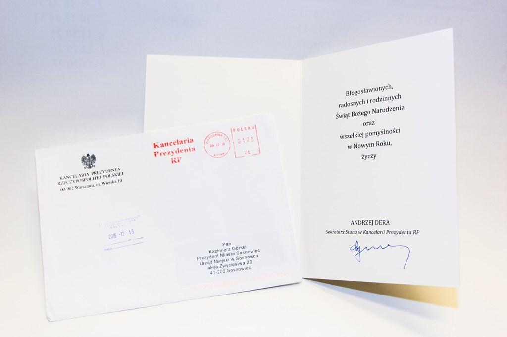 List z życzenia do prezydenta Sosnowca - fot. UM Sosnowiec