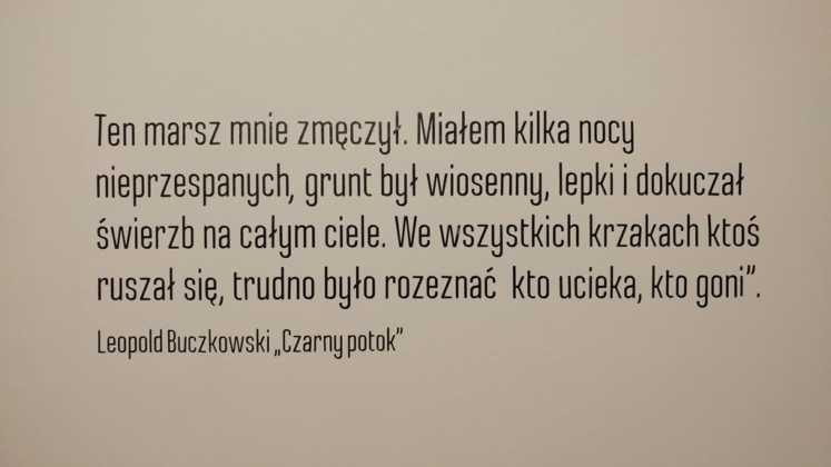 """Wystawa """"Czarny potok"""" - fot. MG"""