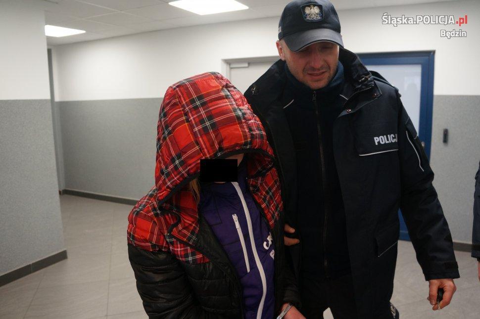 Zatrzymano 21-letnia dilerkę - fot. KPP Będzin