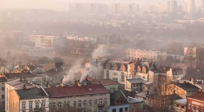 Smog w Będzinie - fot. Zagłębiowski Alarm Smogowy