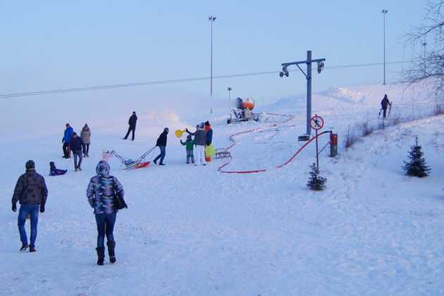 Zima na Górce Środulskiej w Sosnowcu - fot. MC