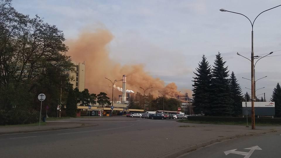 ArcelorMittal w Dąbrowie Górniczej - fot. facebook/ Dąbrowa Górnicza News