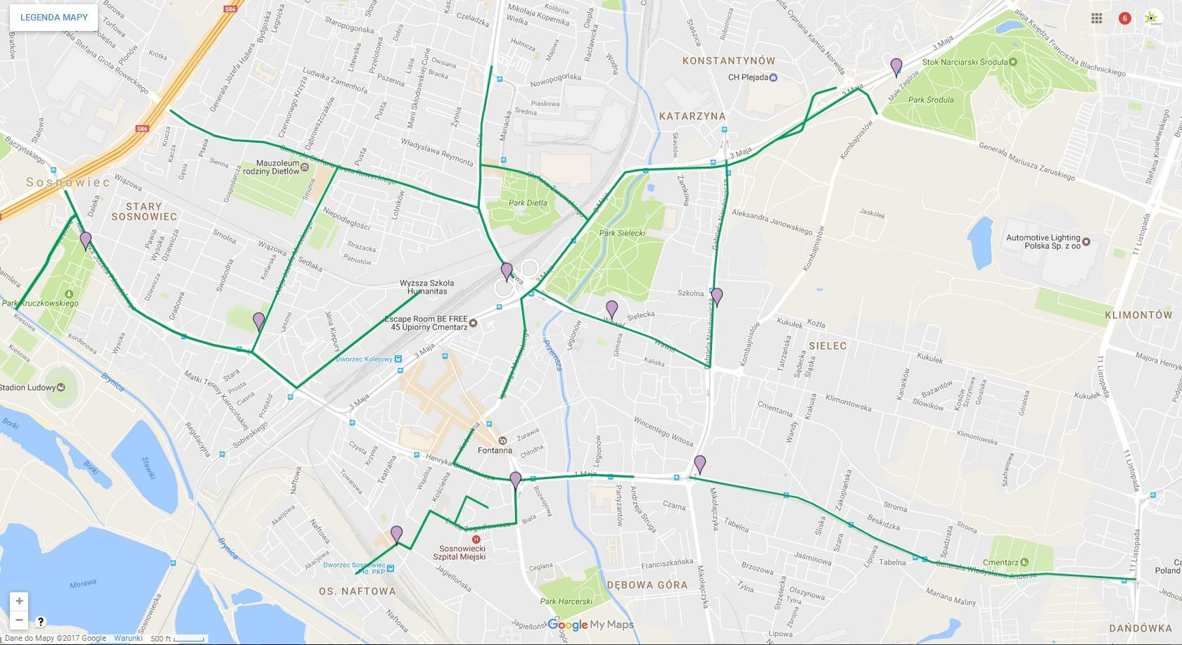 Nowe ścieżki rowerowe w Sosnowcu - fot. UM Sosnowiec