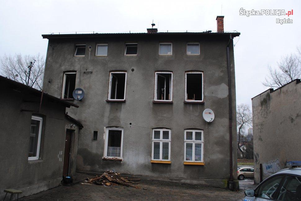 Pożar - KPP Będzin