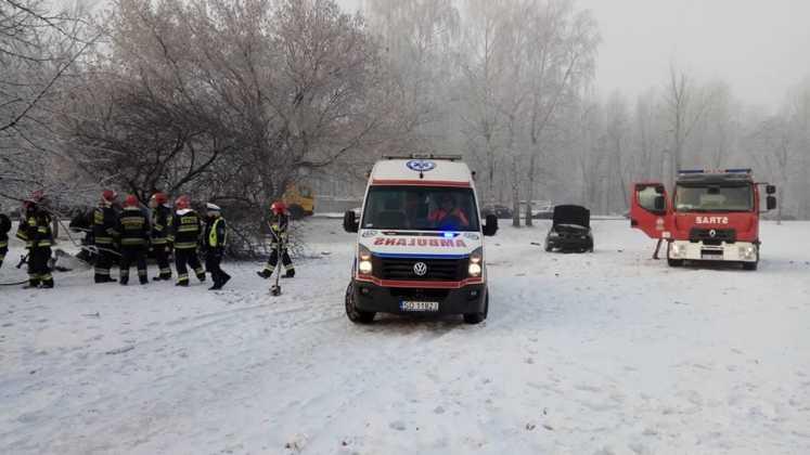 Groźny wypadek w Sosnowcu - fot. Tomasz Tylec