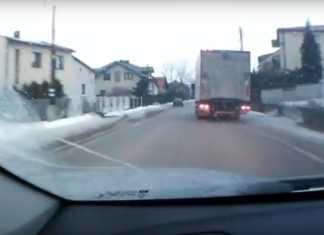 Pijany kierowca ciężarówki - fot. KPP Będzin