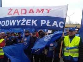 Protest zwiazkowców ArcelorMittal - fot. AR