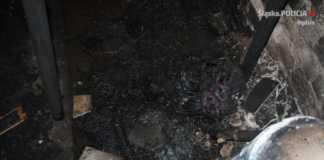 Tragiczny finał pożaru - fot. KPP w Będzinie
