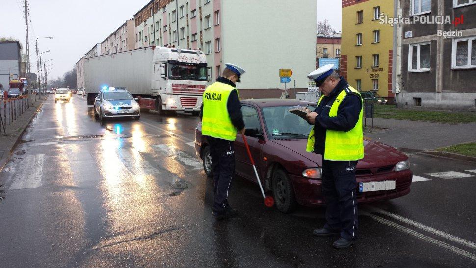 Potrącenie pieszej w Czeladzi - fot. KPP Będzin