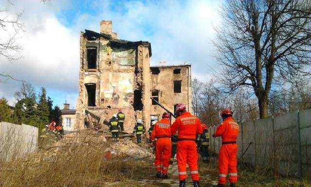 Zawaliła się kamienica w Będzinie - fot. Piotr Winiarz