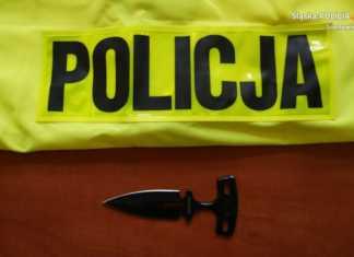 Nożownik zatrzymany - fot. KMP Sosnowiec