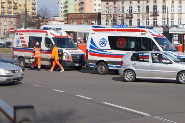 Śmiertelna kolizja na rondzie Gierka w Sosnowcu – fot. MZ