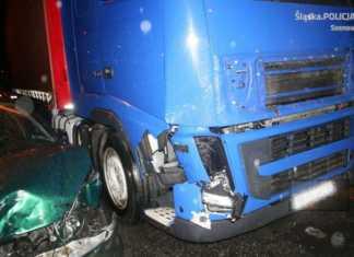 Śmiertelny wypadek na DK 94 - fot. KMP w Sosnowcu