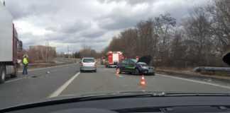 Wypadek na DK86 - fot. Tomasz Noc