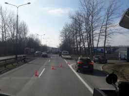 Wypadek na DK94 w Sosnowcu - fot. Katowice i okolice