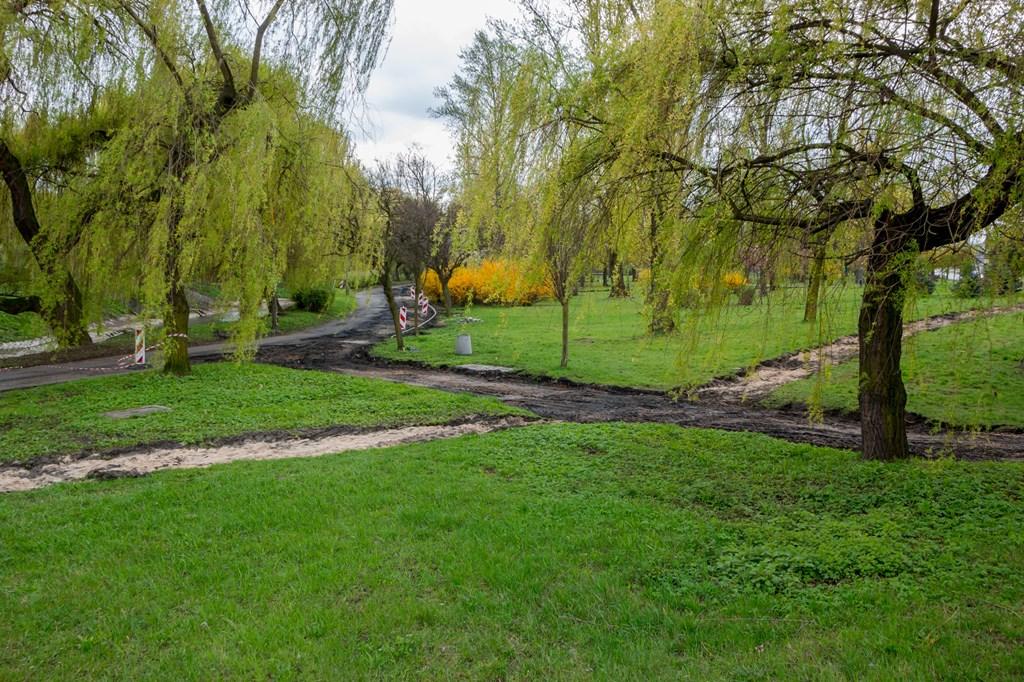 Budowa trasy dla rolkarzy w parku Sieleckim – fot. UM Sosnowiec