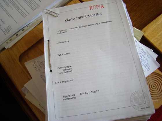 Dokumenty IPN - fot. AR