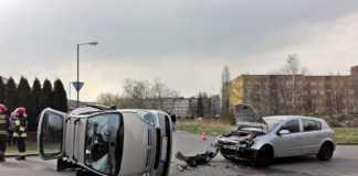 Wypadek przy ul. Kosynierów w Sosnowcu - fot. Sosnowiec998