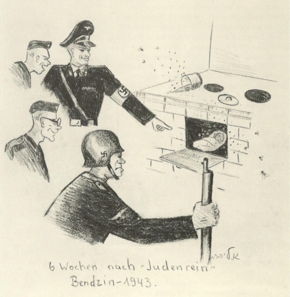 Rysunek Elli Liberman, Żydówki, która do Będzina trafiła w 1938 roku – fot. archiwum prywatne Adama Szydłowskiego