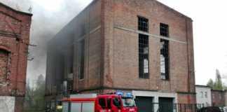 Pożar pustostanu przy ulicy Gacka - fot. Sosnowiec 998