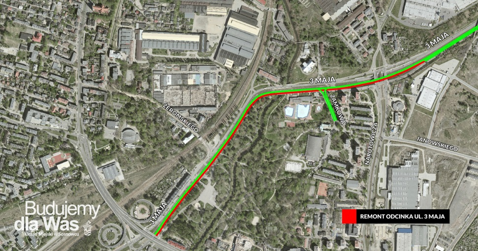 Przebudowa ulicy 3 Maja - fot. UM Sosnowiec