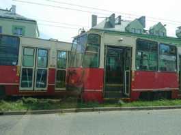 Wykoleił się tramwaj - fot. Grzegorz Krawczyk