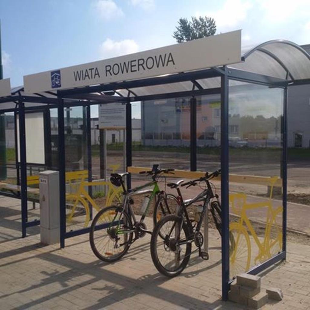 Wiata rowerowa w Sosnowcu - fot. UM Sosnowiec