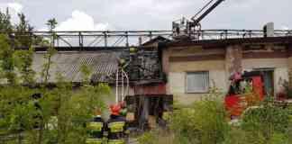 Pożar warsztatu samochodowego w Czeladzi - fot. Łukasz Kożuch