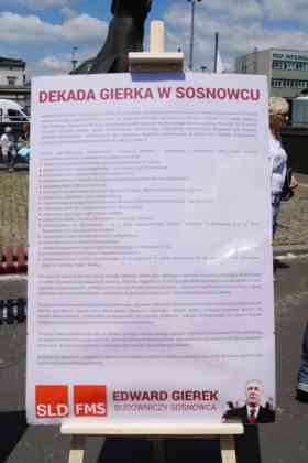 Manifestacja w obronie Edwarda Gierka - fot. MC