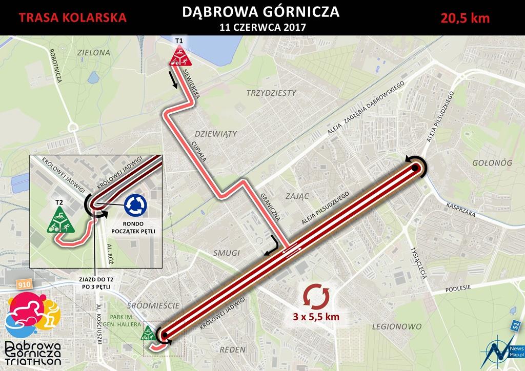 III dąbrowski triathlon - fot UM Dąbrowa Górnicza