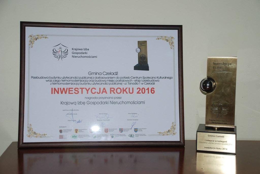 """Kopalnia Kultury w Czeladzi z nagrodą """"Inwestycja 2016 roku"""" - fot. UM Czeladź"""