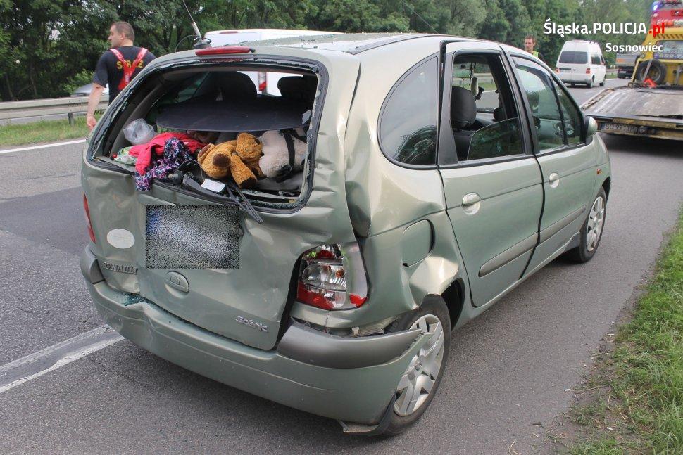 Wypadek na S1 - fot. KMP Sosnowiec
