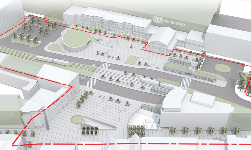 Koncepcja przebudowy centrum Sosnowca - fot. MZ