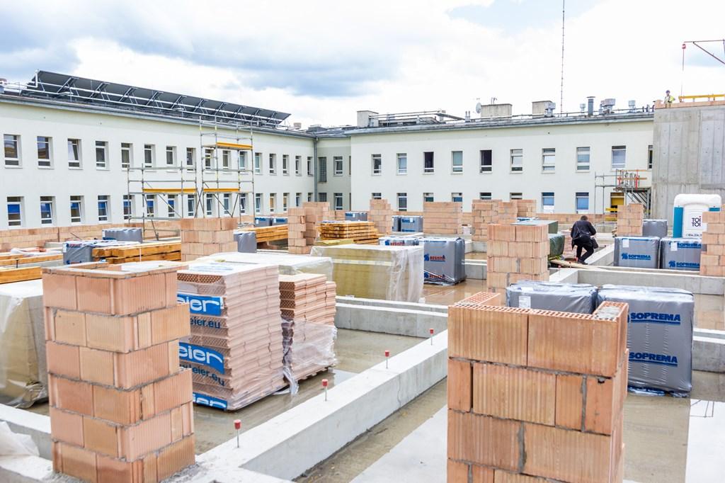 Trwa budowa bloku operacyjnego w Sosnowcu – fot. UM Sosnowiec
