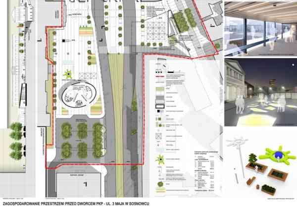 Zwycięska koncepcja przebudowy centrum Sosnowca - fot. mat. pras.