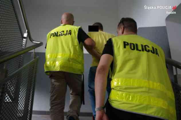18-letni diler w rękach policji - fot. KMP Będzin