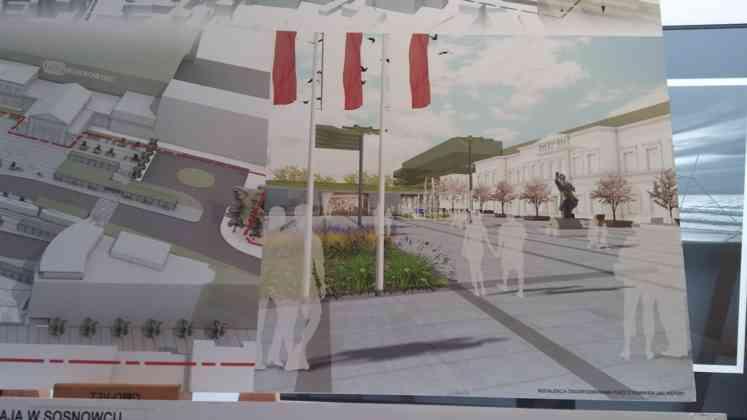 Zwycięska koncepcja przebudowy centrum Sosnowca - fot. MZ