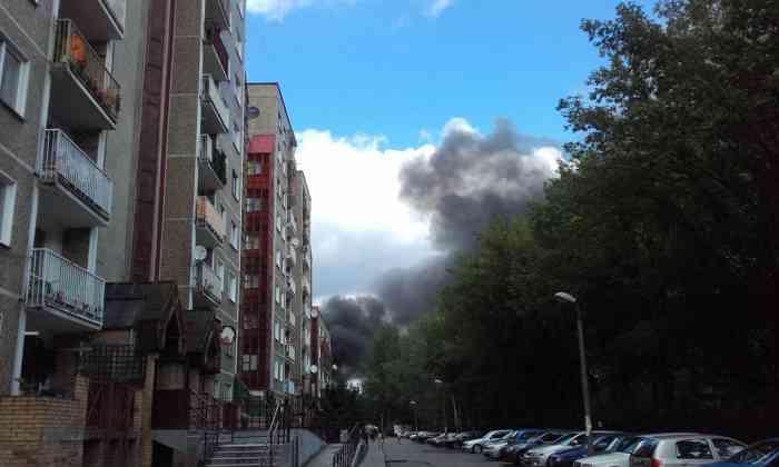 Pożar przy ul. Wojska Polskiego - fot. Aga Ot /Facebook- Gdzie stoją w Sosnowcu