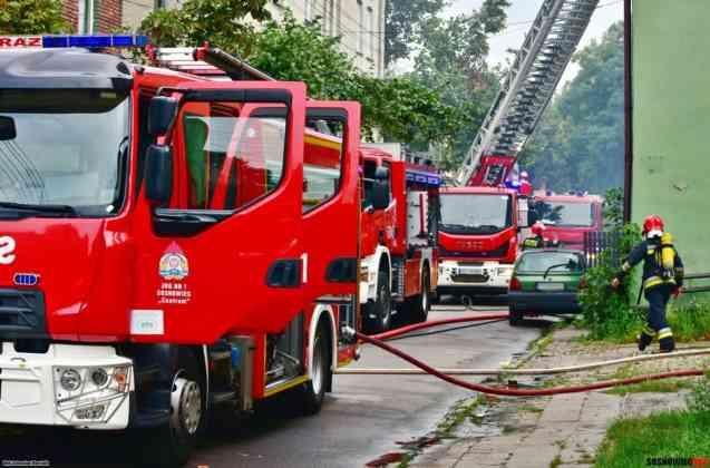 Pożar w Sosnowcu - fot. Sebastian Marcinik/Sosnowiec 998