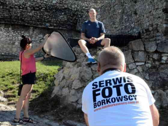 Sesja zdjęciowa z udziałem siatkarzy MKS-u Będzin - fot. mat. klubu