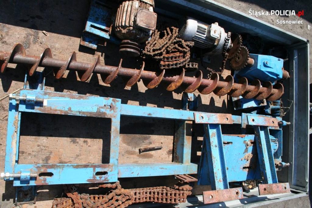 Kradli elementy metalowe - fot. KMP Sosnowiec