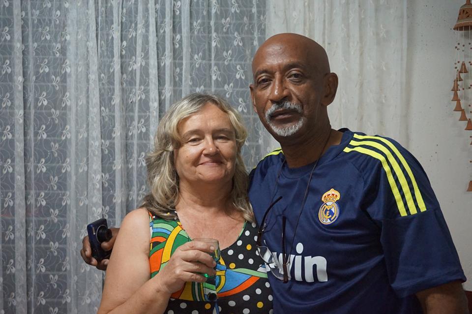 Bożena Latos z mężem - fot. archiwum prywatne