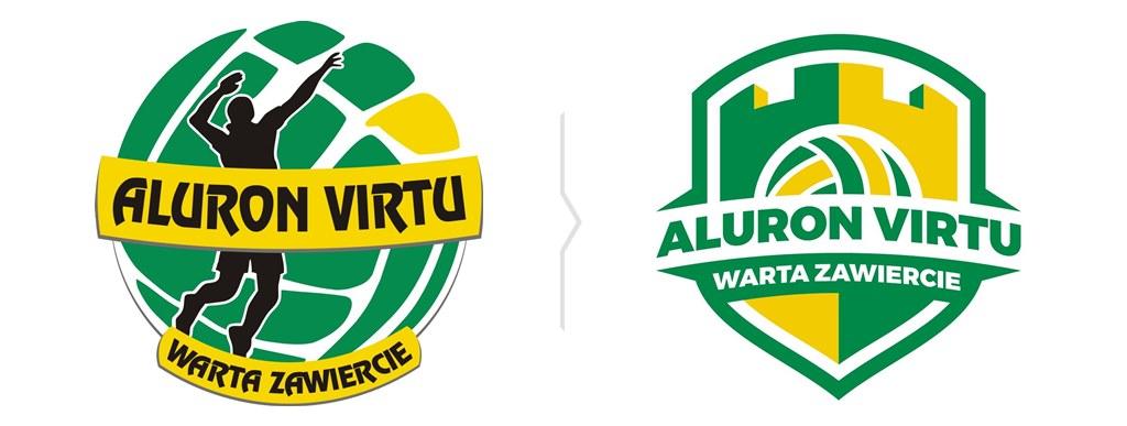 Aluron Virtu Warta Zawiercie – stare i nowe logo klubu