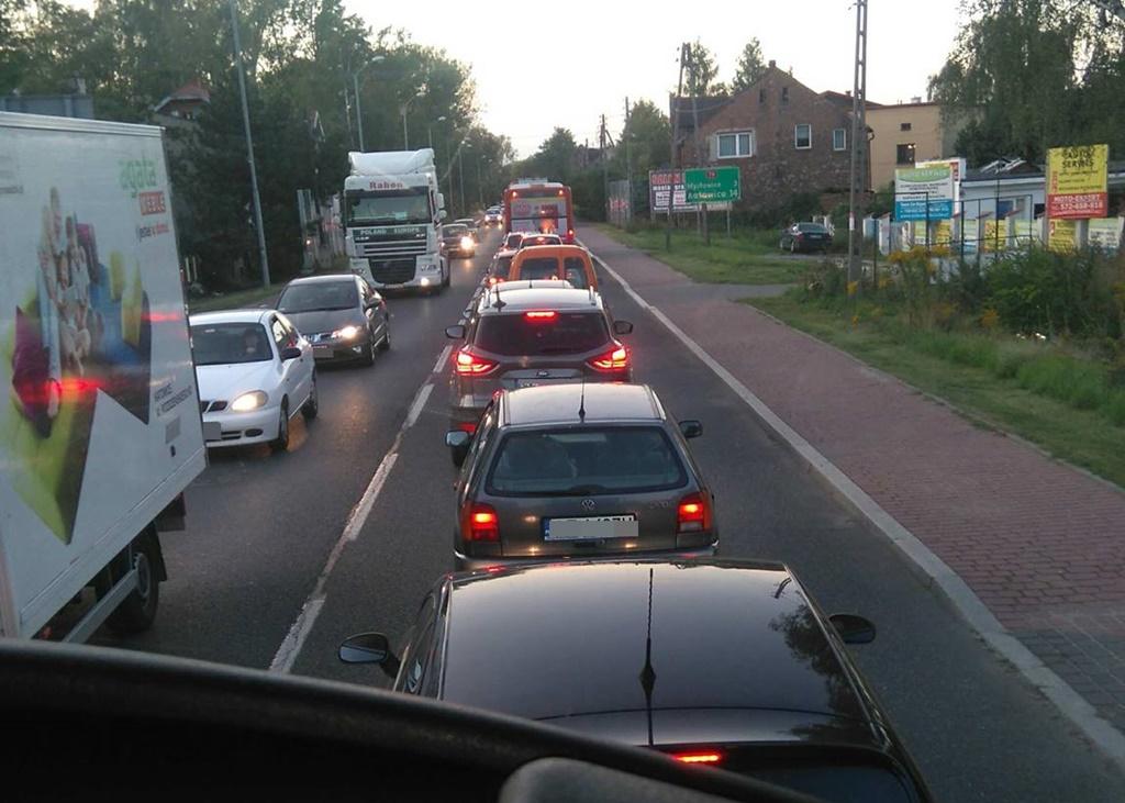 Wypadek na DK79 w Sosnowcu - fot. WA