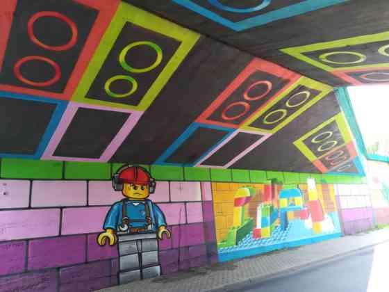 Wiadukt z klocków Lego - fot. UM Czeladź