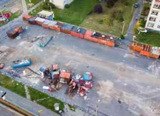 Budowa hali targowej w Czeladzi – fot. Maciej Łukasik/MEGADRON