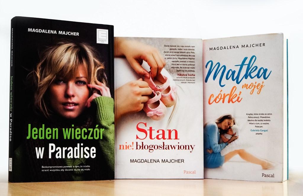 Książki Magdaleny Majcher - fot. MZ