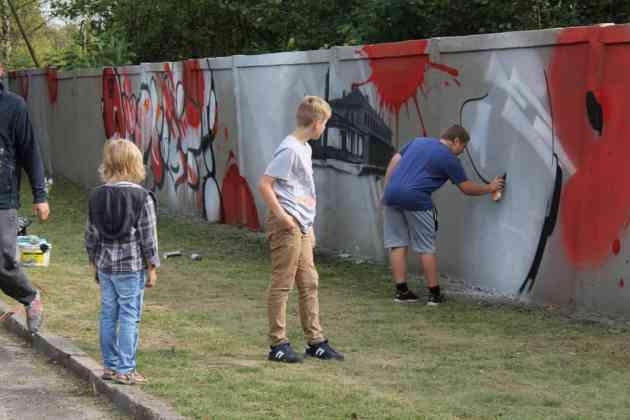 Nowy mural w Maczkach - fot. Miejski Klub Maczki